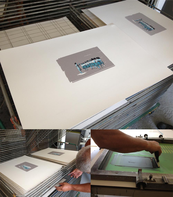 tlac novych limitovanych serigrafii pre Krokus galeriu
